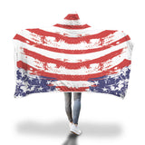 Cozy American Flag - Hooded Blanket
