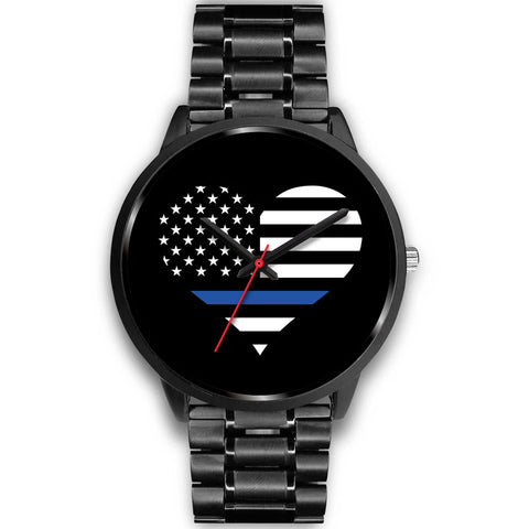 Thin Blue Line Heart - Watch
