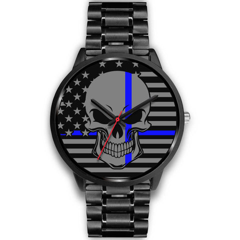 Skull - Thin Blue Line Watch