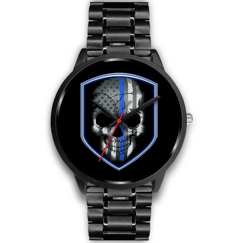 Skull Shield - Thin Blue Line Watch