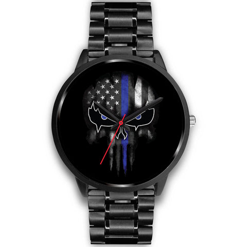Punisher Skull - Thin Blue Line Watch