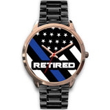 Retired Thin Blue Line Watch - Gold