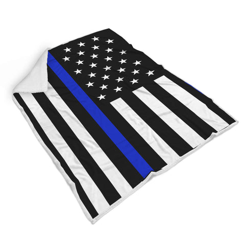 Thin Blue Line Flag Blanket