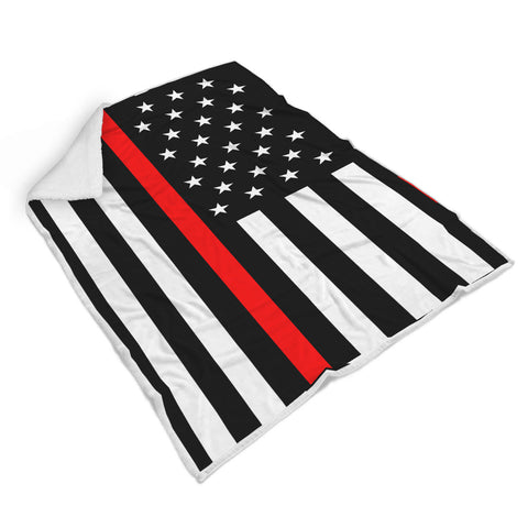 Thin Red Line Flag Blanket