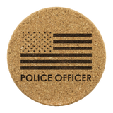 Police Officer - Round Coasters