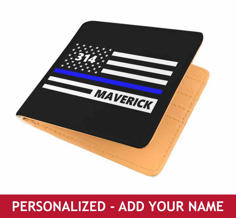 Personalized Men's Wallet - Flag