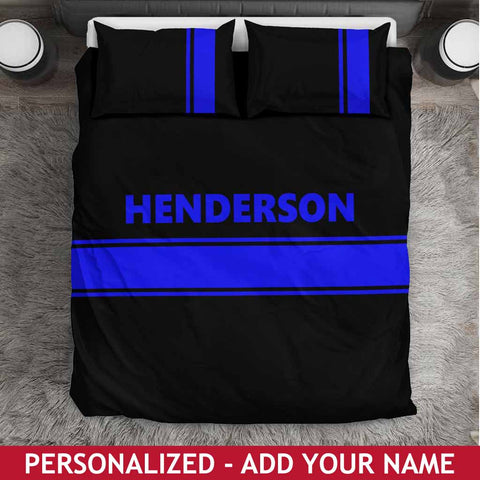 Personalized Bedding Set - Thin Blue Line
