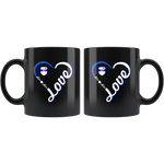 Personalized Mugs - Heart with Badge