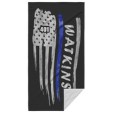 Thin Blue Line Beach Towel - LW1