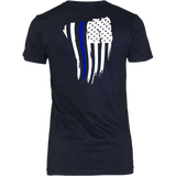 Thin Blue Line American Flag Shirt