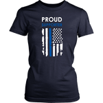 Proud supporter Thin Blue Line Flag Shirts