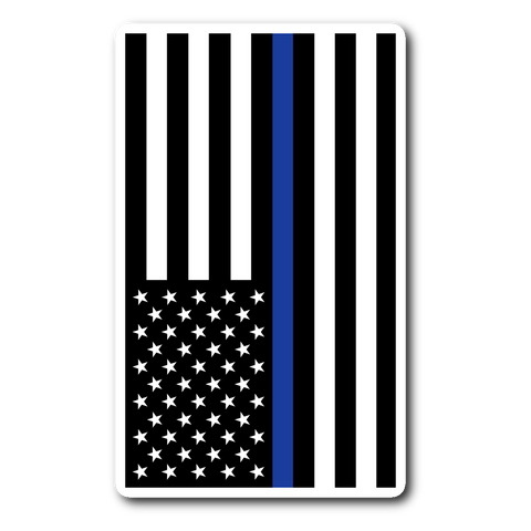 American Flag Thin Blue Line - Car & Laptop Decal