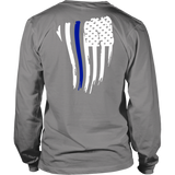 Thin Blue Line American Flag Shirt + Hoodies