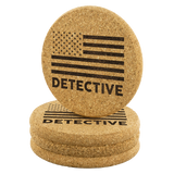 Detective - Round Coasters - Set of 4