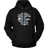 Remember Thin Blue Line Hoodies
