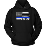 POLICE - Thin Blue Line Flag Hoodie