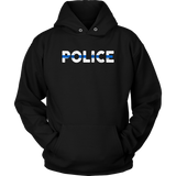 """POLICE"" - Thin Blue Line Hoodies"