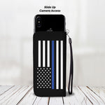 Blue Lives Matter - Duty, Honor, Courage - Phone Case Wallet