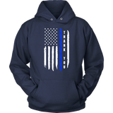 Thank you - Thin Blue Line Flag Hoodies