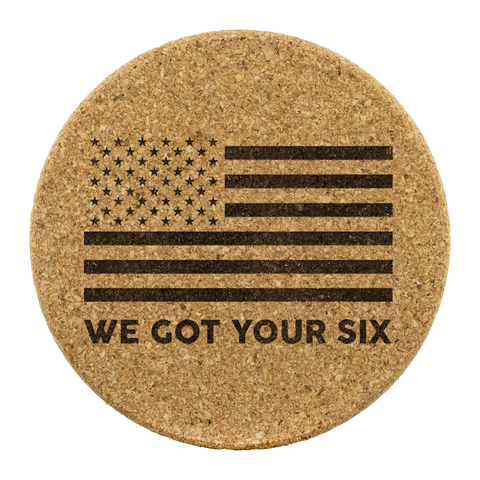 We Got Your Six - Round Coasters