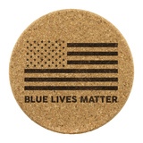 Blue Lives Matter - Round Coasters