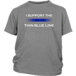 "Youth ""I support the Thin Blue Line"" Shirt - Kids"