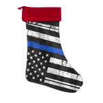 Thin Blue Line Flag - Christmas Stocking – Type 3