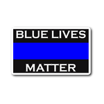 Blue Lives Matter - Thin Blue Line Sticker/Decal