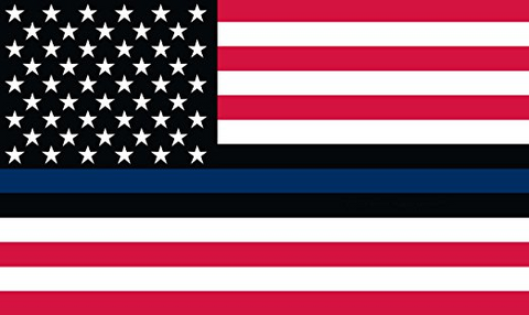 Thin Blue Line American (USA) Flag - 3 x 5 Foot