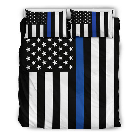 Thin Blue Line Flag Bedding Set