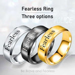 Fearless - 8mm Solid Stainless Steel Comfort Fit Ring - 3 Colors