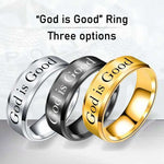 God is Good - 8mm Solid Stainless Steel Comfort Fit Ring - 3 Colors
