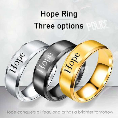 Hope - 8mm Solid Stainless Steel Comfort Fit Ring - 3 Colors