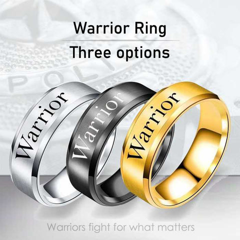 Warrior - 8mm Solid Stainless Steel Comfort Fit Ring - 3 Colors
