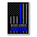 Blue Lives Matter - Thin Blue Line Flag - Sticker/Decal