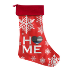 HOME - Thin Blue Line Heart - Christmas Stocking