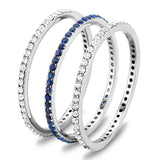 Thin Blue Line Triple Band Ring
