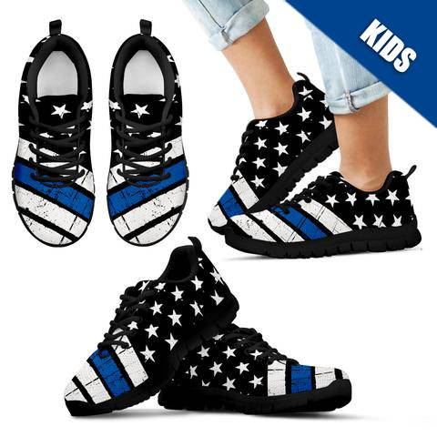 Kid's - Thin Blue Line American Flag Sneakers