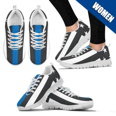 Women's - Thin Blue Line Sneakers - Type 1