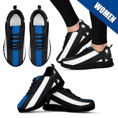 Women's - Thin Blue Line Sneakers - Type 2