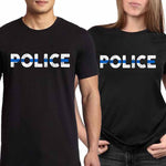 """POLICE"" - Thin Blue Line Shirts + Hoodies"