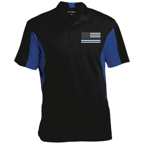 Thin Blue Line Flag Performance Polo Shirt
