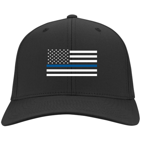 Thin Blue Line American Flag Hat/Cap