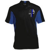 Thin Blue Line Skull Performance Polo Shirt