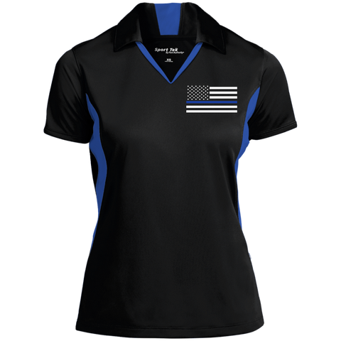 Thin Blue Line Flag Performance Polo Shirt - Women's