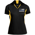 Women's Thin Blue Line Flag Performance Polo Shirt