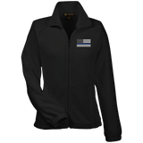 Ladies Thin Blue Line Flag - Fleece Jacket