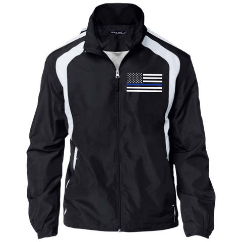 Thin Blue Line Flag Embroidered Jacket - Unisex