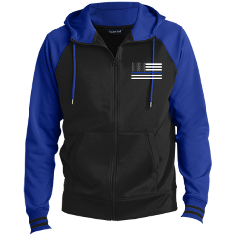 Men's Thin Blue Line Flag Full-Zip Hooded Jacket