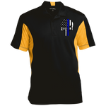 Men's Skull Thin Blue Line Performance Polo Shirt